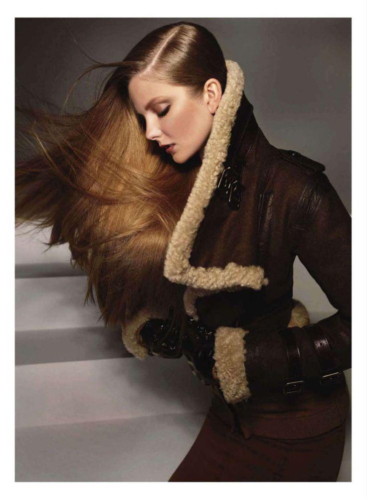 I LOVE this coat.  Chic Easy Pieces | Eniko Mihalik | Glen Luchford  | Harper's Bazaar US September 2010