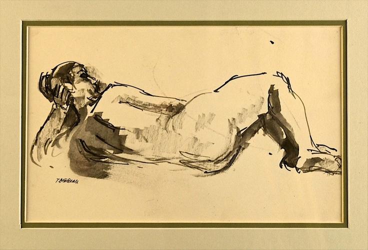 Traian Brădean - Nud culcat