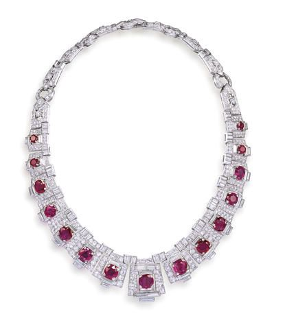 CARTIER A MAGNIFICENT CARTIER ART DECO RUBY AND DIAMOND NECKLACE HEADLINES THE BONHAMS HONG KONG