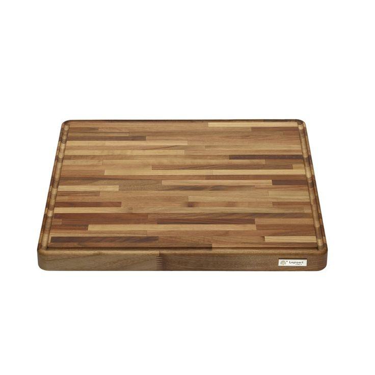 "Legnoart LA-WB-L Grand Gourmand Cutting Board, 20"" by 20"" by 1.5"", Natural Walnut"