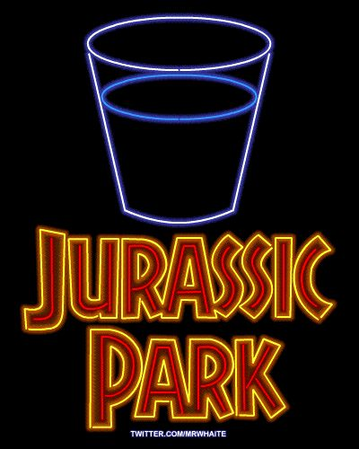 Jurassic Park (gotta check this site - movie posters as neon signs!)