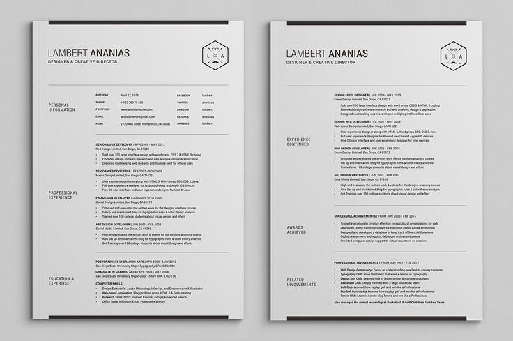 Sample Two Page Resume Custom 26 Best Example Resumes Images On Pinterest  Resume Templates .