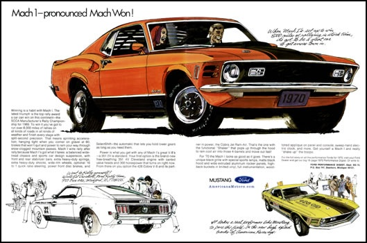 1970 Mach 1 Ad 1970 Ford Mustangs Pinterest