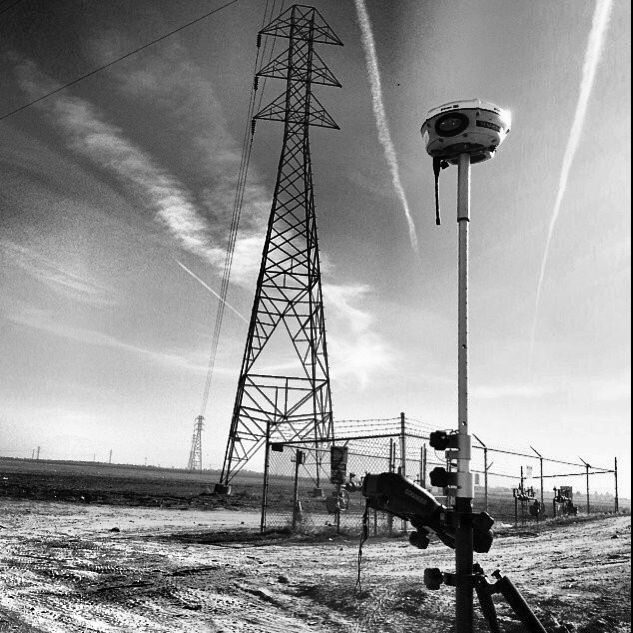 @IG:fatherpaul showing off his photography skills with this black & white. He was conducting a boundary survey and topo for a commercial and industrial development in Bakersfield, California, USA. #surveylife