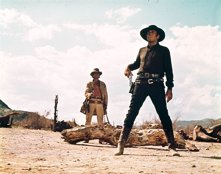 Charles Bronson and Henry Fonda in Once Upon a Time in the West directed by Sergio Leone, 1968