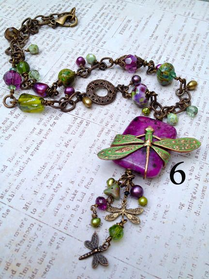 """Dragonfly Path"" (I think this is a necklace...but I would like a bracelet)"