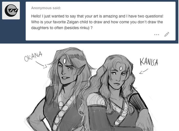 Hmm…well it'll have to be the zelgan brothers. I don't draw the daughters too often is because I like to draw men, especially beefy men. >///_///> My sketches are my stress release from work so…yeah I just end up with a thousand rough sketches of men without realizing it sometimes :P