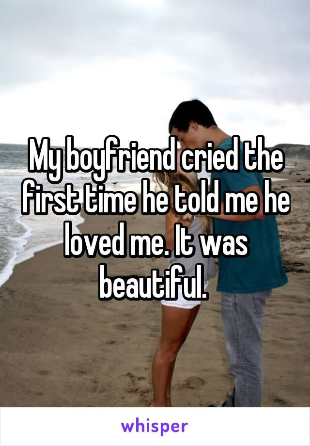 """Whisper App. Confessions on the first time he said """"I love you""""."""