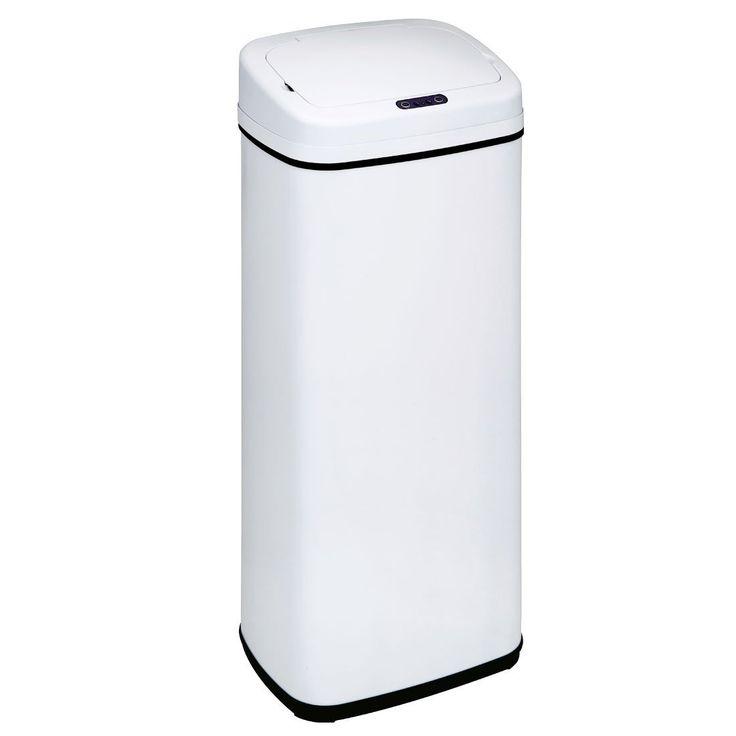 Amazon|タンスのゲン 自動開閉式 ゴミ箱 50L センサー付き 大型 ホワイト 43200001 WH|フタ付きゴミ箱 オンライン通販
