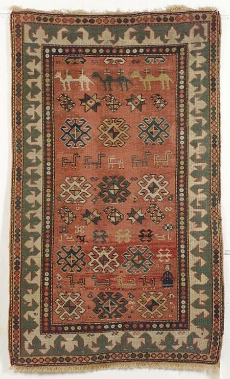 Kazak Rug, Southwest Caucasus, second half 19th century, 5 ft. 4 in. x 3 ft. 4 in. | Skinner Auctioneers Sale 2276