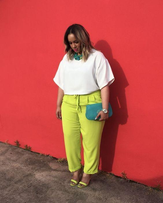 Especial Cartela de Cores   24 inspirações de looks para as cartelas de Primavera - Fixbitt in 2021   Plus size outfits, Plus size fashion, Plus size fashionista