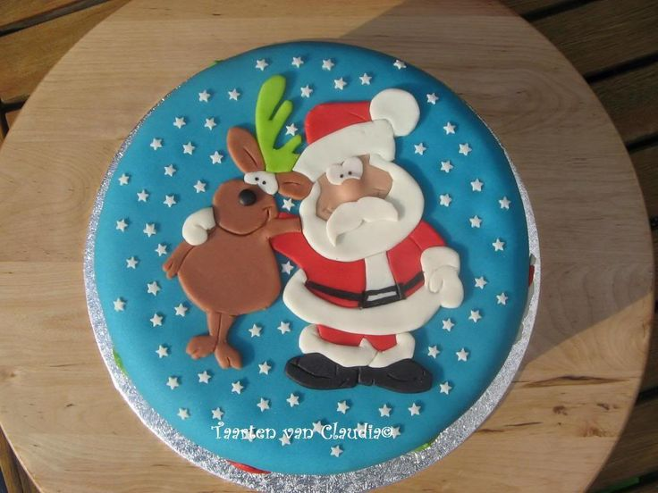 Kerst taart van Claudia, via leukste taarten.nl