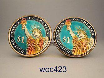 USA coin cufflinks Dollar on Etsy, $42.00