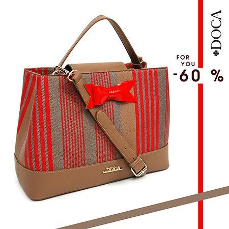 Καθημερινή τσάντα μπεζ-κόκκινη με -60%!  #sales #doca #endofseason Shop now: http://bit.ly/1okG3od