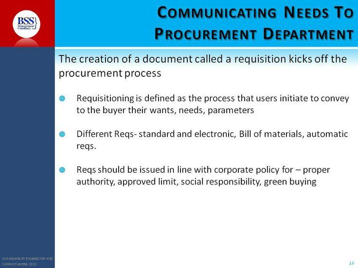 Pins on procurement skills -Communicating needs