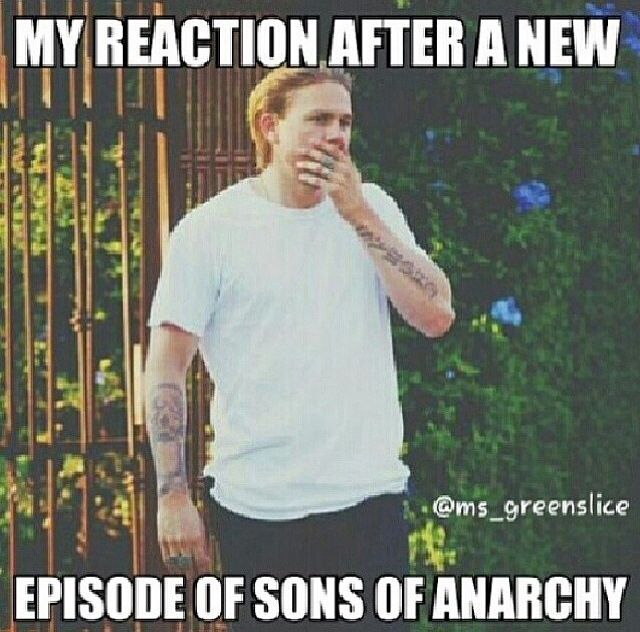 During and after... Sons of Anarchy