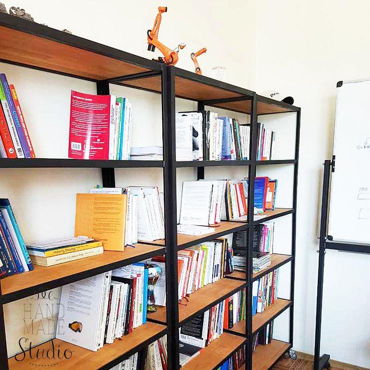 17 отметок «Нравится», 1 комментариев — WoodMe - мебель в стиле loft (@woodme.com.ua) в Instagram: «Офисные стеллажи – неотьемлемая часть любого рабочего интерьера или офиса. Стеллажи с открытыми…»