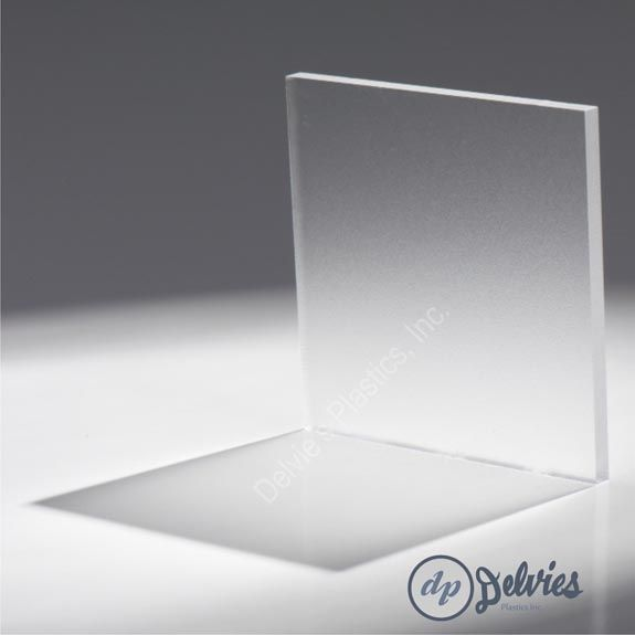 Delvies.com   Standard Frosted Acrylic Sheet Frosted Cast Acrylic Sheet is ideal for light fixtures, light tables, displays, and back lighting.  The sheet is frosted on one side and glossy on the on the other.