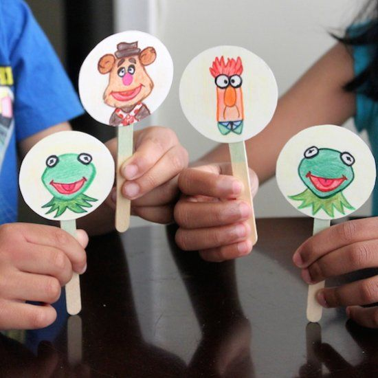See how to make these fun Stick Puppets inspired by the Muppets