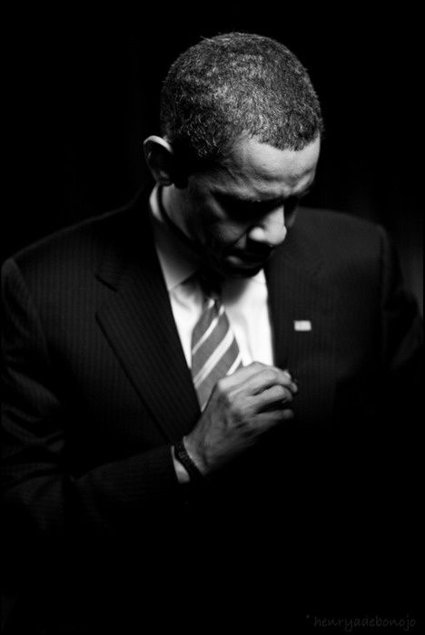 President Obama. Whether you like him or not, this is a great shot. Love the lighting.