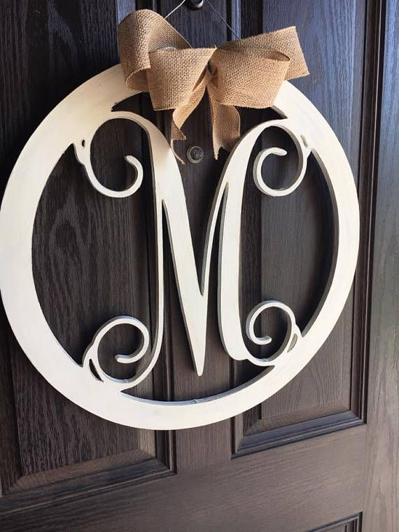 Best  Monogram Door Hangers Ideas On   Door Monogram