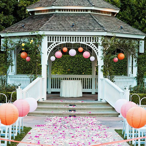 9 best outdoor wedding decorating ideas images on for Outdoor wedding gazebo decorating ideas