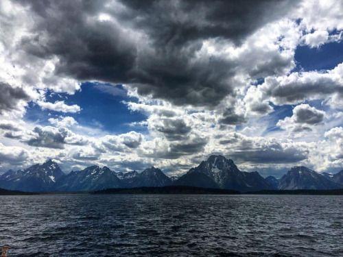 The Grand Tetons Wyoming. #GrandTetons #Mountains #Lake #Sky...