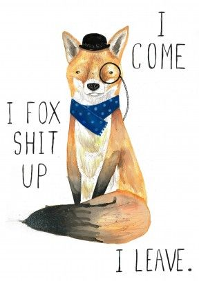 Foxy card on Scribbler - Fox shit up | Jolly Awesome | JA1023