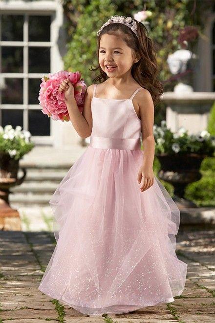 Pink Flower Girls Dress # 44128