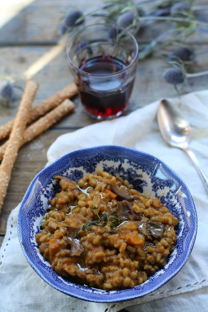 Barley with porcini mushroom and butternut | La petite casserole