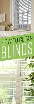 Cleaning your window blinds is an often overlooked task, but fairly simple routine cleaning can keep them looking great for years to come, and help keep your h