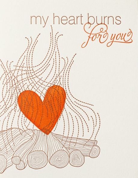 my heart burns for you card vday from one kings lane