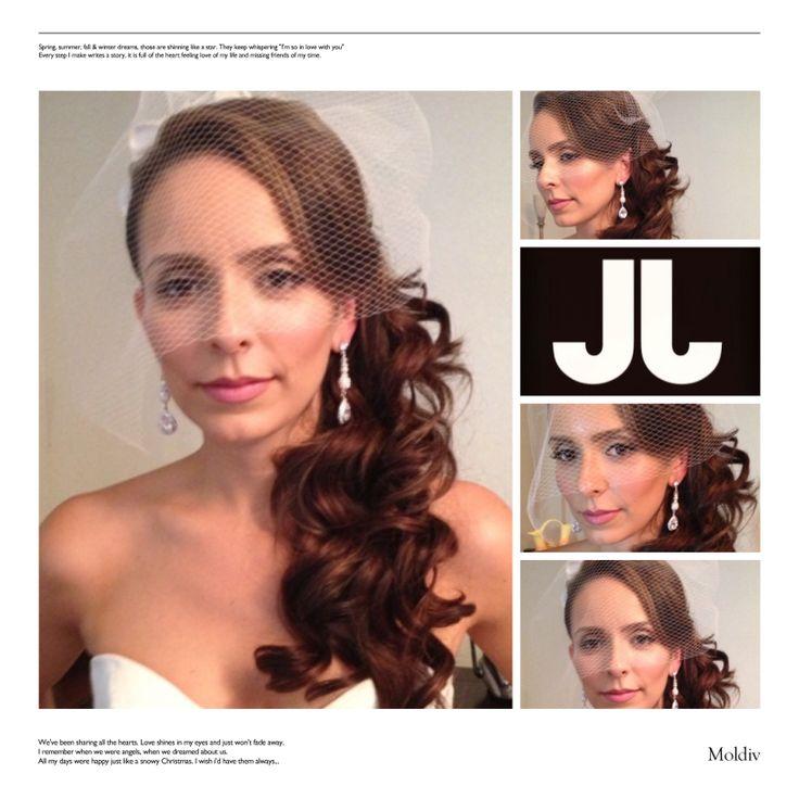 Gorgeous side-swept curls...simple yet beautiful #WeddingHair idea