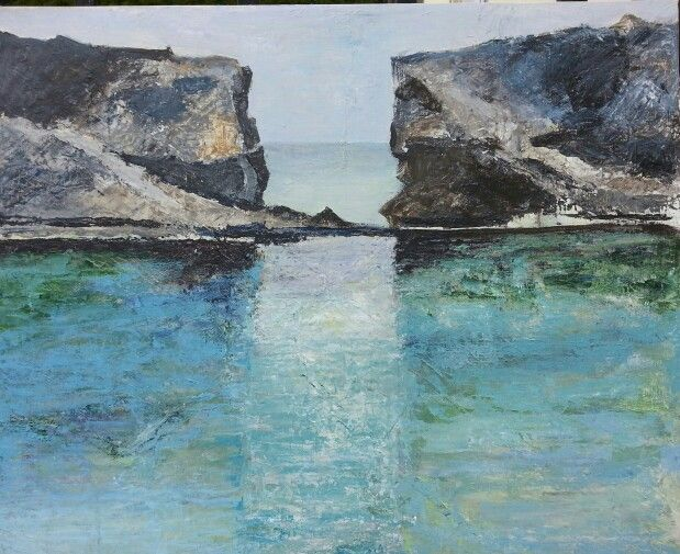 The Blue lagoon between Cominetto and Comino Malta. Acrylic. 60x50 cm. Contact: brittmarie.fabic@gmail.com