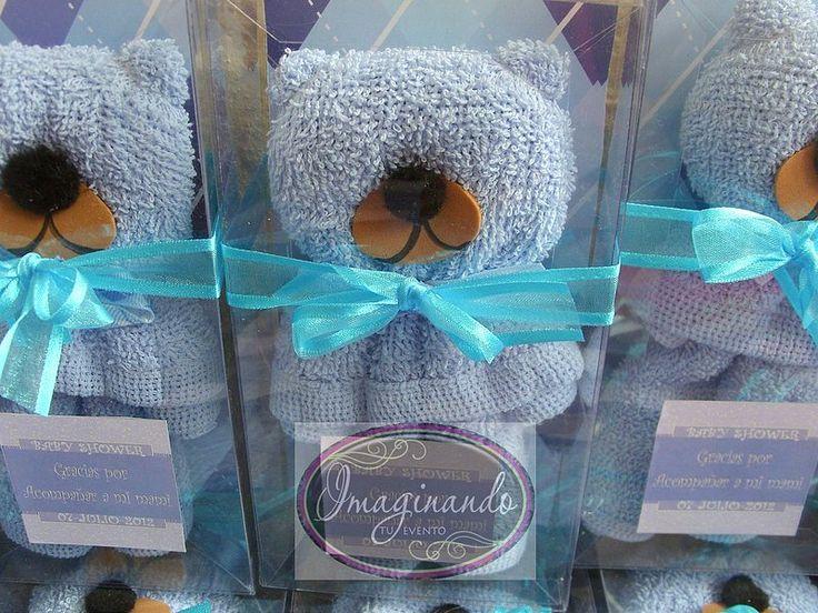 10 animales de toalla facial recuerdos bautizo baby shower
