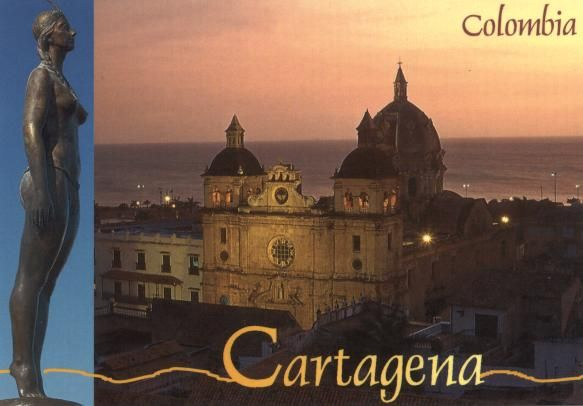 Cartagena, Colombia.  The most well-known Colombian city to Americans.