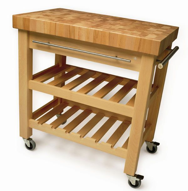Eddingtons Butchers Block Trolley - The Leverton www.richmondcookshop.co.uk Kitchens ...