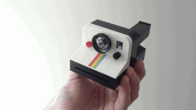 A Cool LEGO Instant Camera That Can Eject A Tiny Polaroid Picture
