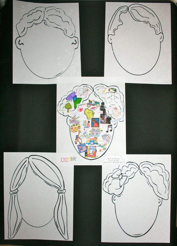 What's On Your Mind? Fill with drawings, clip art, stickers, photographs, words, quotes...whatever is always on your mind. This is a good icebreaker for students to get to know their new classmates.