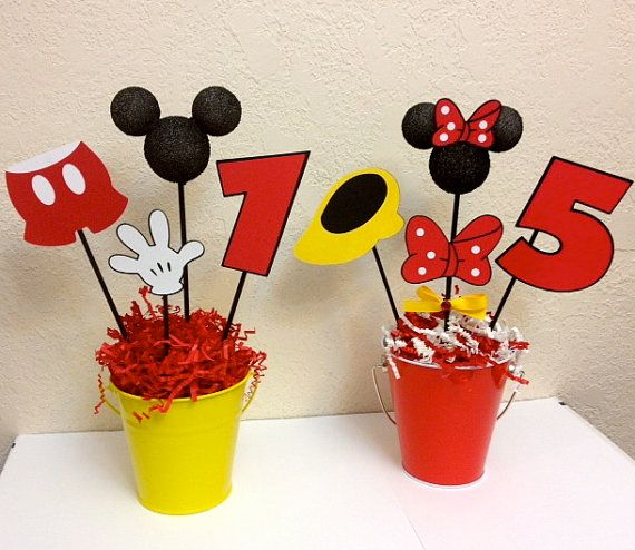Mickey Mouse and Minnie Mouse Birthday por TheGirlNXTdoor en Etsy