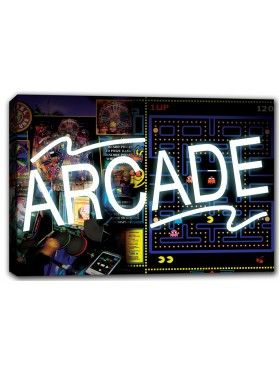 Arcade Canvas Print Wall Art  All Canvas prints come ready to hang in any business, garage, workshop, or man cave.  Price: $39.00  See more at: http://wiredsigns.com/canvas-print/  #mancave #decorations #arcade