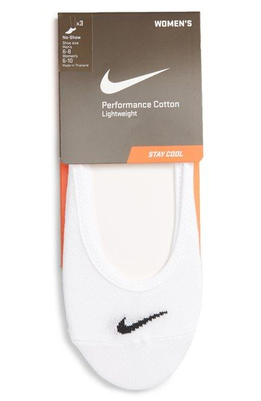 Nike 'Performance' No-Show Socks (3-Pack) (Women) available at #Nordstrom