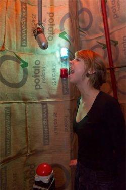 Screaming Room van Alicia Framis transformeert je schreeuw naar een 3D object. Afhankelijk van hoe hoog, hoe hard of hoe lang je schreeuwt, krijgt jouw object zijn unieke vorm. Zoiets rauws en ongecontroleerds als een schreeuw wordt op een slimme manier omgezet naar een persoonlijk ontwerp.