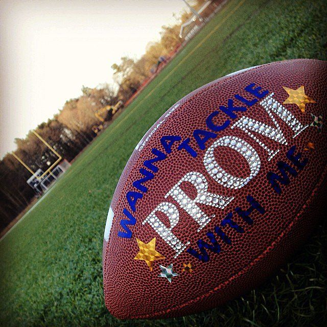 wanna tackle prom with me. Prom dance proposal