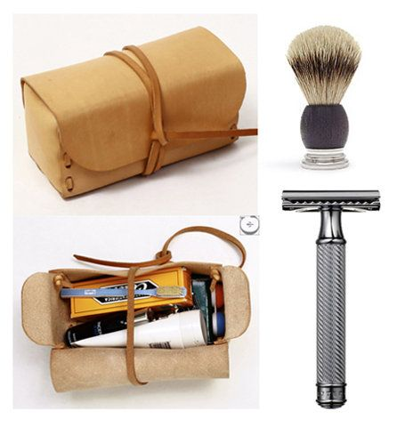 Men's toiletry kit: Groomsmen Gifts, Gifts Ideas, Style, Gift Ideas, Clever Gifts, Shaving Kits For Men, Giftsforhim Shaving, Leather Bags, Gifts Boxes