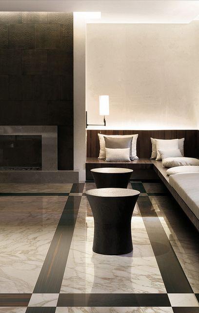 Marble & wood effect porcelain tiles