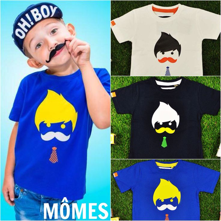 """Here's #MÔMES popular """"Éthan"""" design in our 3 colours  We also have this cool dude available in baby onesies at www.momes-store.com (link also in profile) ❤️ #newdesign#ethan#organic#shopnow#babyorganic #onesie#tshirts#tee"""