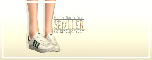 [SEMLLER] Adidas_Superstar for T/YA/A Male/Female 4 Recolourable channels Mesh and textures by me Package files have higher quality DOWNLOAD Don't reupload and claim as your own.You may convert only to other Sims games with credit.Please tag #Semller if you use my creations.