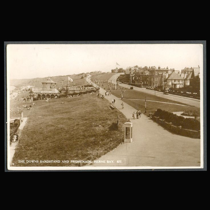 Bandstand and Promenade, Herne Bay, Kent, UK Vintage Postcard by COINSnCARDS on Etsy