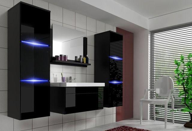 Czarne meble łazienkowe. Kolekcja Luna - Lumia